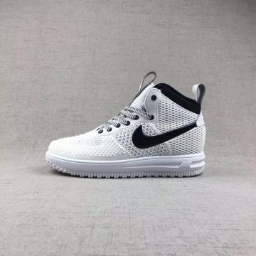 newest a926d 5fd0a Nike Air Force 1 High KPU White Black Men Shoes