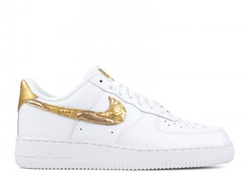 new styles bf15f 7355d Air Force 1 07 Cr7 Golden Patchwork White Gold Metallic AQ0666-100