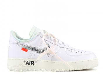 216d150b04 Air Force 1'07 Off White -White Sail Silver Metallic AO4297-100