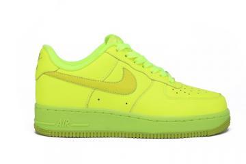 separation shoes 6cc2a 568d2 Air Force 1 Low Volt Fierce Green GS Casual Sneakers 596728-701
