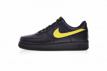 a50e27767bcf Nike Air Force 1 Low  07 LV8 Black Amarillo Yellow Swoosh AA4083-002