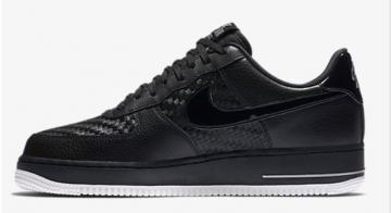 online store 5c5f3 6ff5b Nike Air Force 1 Low  07 LV8 Black Woven Summit White 718152-010
