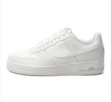 0e8a2046817c33 Nike Air Force 1 Low 07 LV8 Pure White Woven 718152-105