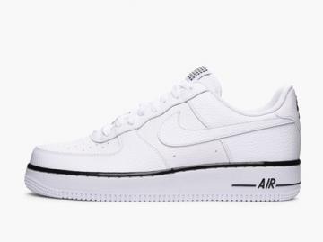 best sneakers 418f9 7a624 Nike Air Force 1 Low  07 White Black Sneaker 488298-160
