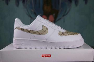 buy online adc4b 36bd0 Nike Air Force 1 Low Lifestyle Shoes White Gold