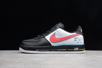 designer fashion 5241d 8d3a3 Nike Air Force 1 Low Racing Black White Racer Blue Red AH8462-004