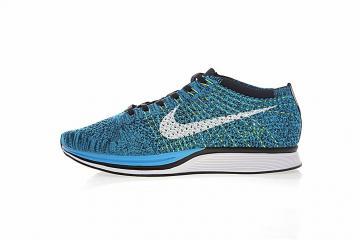 7b27b8441e81 Nike Flyknit Racer Blue Glow White Black 526628-402