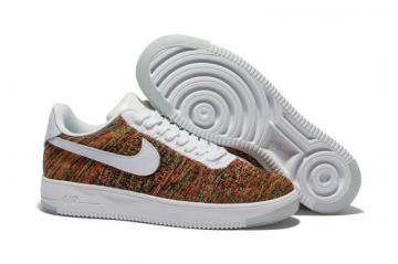 online store 344e5 1e1c8 Nike Men Air Force 1 Low Ultra Flyknit White Gold Multi Color 817419