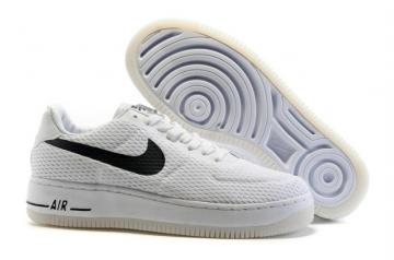 los angeles dfe60 e6bac Nike Air Force 1 AF1 Low Upstep BR Sneakers Shoes White Black 833123
