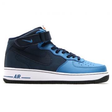 b616f05a57c2b8 Nike Air Force 1 Mid  07 Mens Blue Obsidian Shoes 315123-406