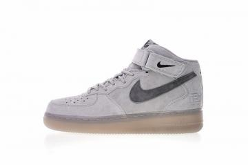 90425203cda Reigning Champ x Nike Air Force 1 Mid 07 Light Grey Black 807618-208