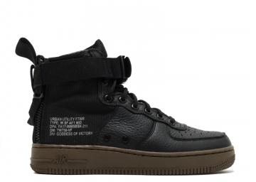 reputable site daaa4 26eb1 W Nike Air Force 1 Sf Af1 Mid Dark Hazel Black AA3966-003