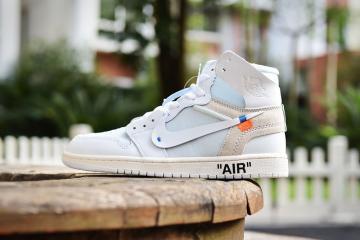 67108235d3649 Nike Air Jordan 1 Retro High Off White White AQ0818-100