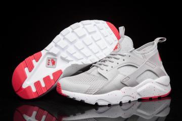 523f8b9c4546 Nike Air Huarache Run Ultra BR Breeze Men Runner Trainers Silver Light Grey  Red 833147