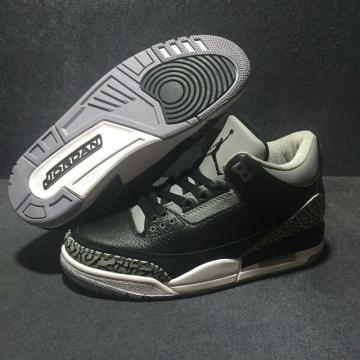 a5d6e485f3ed Nike Air Jordan III 3 Crack Gray Cymbidium Sinense Men Basketball Shoes  Leather