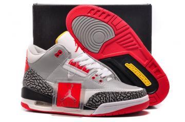731683bcaed5a1 Nike Air Jordan III 3 Retro Women Shoes Grey White 136064