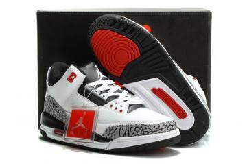 3e7b1f25bdf0 Nike Air Jordan III Retro 3 Men Shoes White Black cmnt gry infrrd 23 136064  123