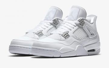 06699a8d22fecf Air Jordan 4 GS Pure Money White Metallic Silver - Pure Platinum 408452-100