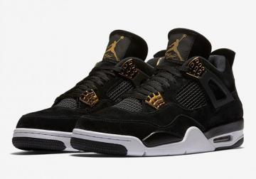 Air Jordan 4 GS Royalty Black Metallic Gold-White 408452-032 22186f6cd