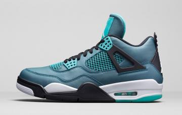 Air Jordan 4 GS Teal Teal White-Black 705330-330 e9ce18130