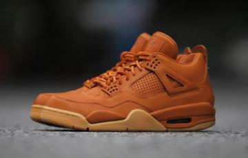 f39c1c41d49 Nike Air Jordan 4 IV Premium Ginger AJ4 Retro Men Shoes Wheat 819139-205