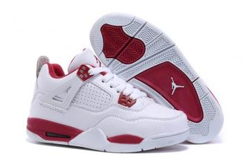 release date be8b1 4baa9 Nike Air Jordan 4 Retro Basketball White Black Gym Red Baby Kid Shoes  408452 106