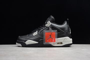 83dc77d236d Nike Air Jordan 4 Retro Ls Oreo Black Tech Grey White 314254-003