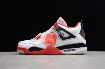 7589db91c68236 Nike Air Jordan 4 Retro White Varsity Red Black 308497-110