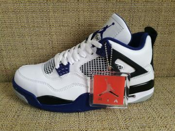 01136f61fdd41d Nike Air Jordan 4 Retro IV AJ4 Motorsports White Game Royal Blue Men Shoes  308497-117