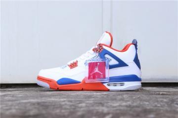 f15cf6aaab0 Nike Air Jordan 4 Retro OG White Blue Orange 308497-171