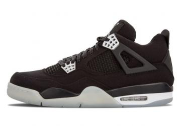 185534ac4cdbb4 Nike Air Jordan IV 4 Retro Denim Material Mens Shoes Black 487724