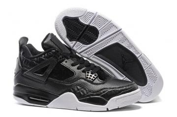 e797fbdc46a1ac Air Jordan IV 4 Retro Pinnacle Croc Pony Hair Black 819139 010