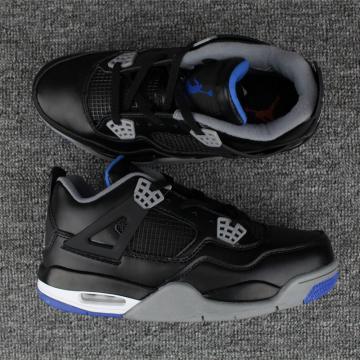 0fe41ba108d Nike Air Jordan IV 4 Retro Black Cement Grey blue Men Shoes