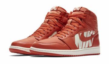 Nike Wmns Air Jordan 1 Retro Hi Prem Dipped Toe Red Gold Women Aj1 Ah7389-607 Women's Shoes Athletic Shoes