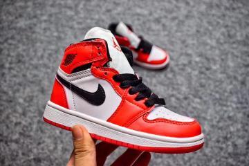 8c42b812ff20 Nike Air Jordan I 1 Retro Kid Shoes White Red 575441-125