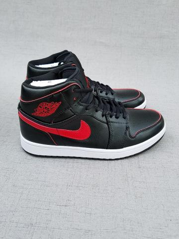 518f418c3789db Nike Air Jordan I 1 Retro black red white Men Basketball Shoes