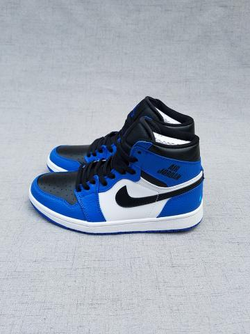 4124bedba0a338 Nike Air Jordan I 1 Retro blue black white Men Basketball Shoes