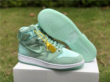 225fbf258b73bc Nike Air Jordan I 1 Women Basketball Shoes Light Green All