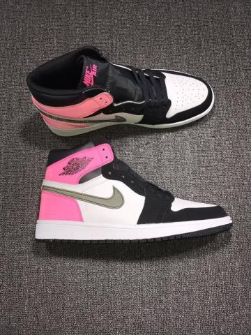 65566e35e10107 Nike Air Jordan Retro I 1 High Valentine Day Pink 3M Women Shoes 881426-009