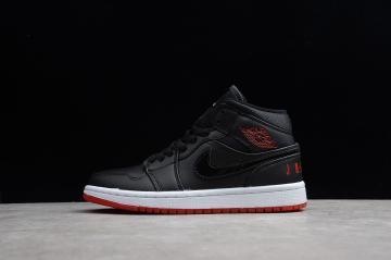 669a46d9254907 Nike Air Jordan 1 Mid Black University Red BQ6578-001
