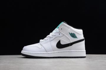 eb78cfa13ef Nike Air Jordan 1 Mid GS Hyper Jade AJ1 Black White Green 554725-122