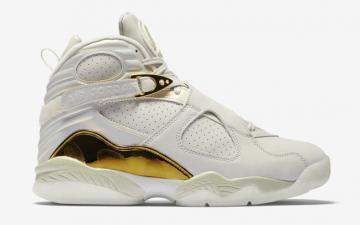 a11497a4b09 Nike Air Jordan 8 Confetti VIII Retro Champ Pack Men Shoes White Gold  832821-030