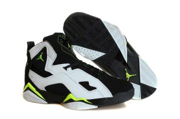 a5f2d994147253 Nike Air Jordan True Flight Basketball Shoes Whsite Black Lemon 342964 133