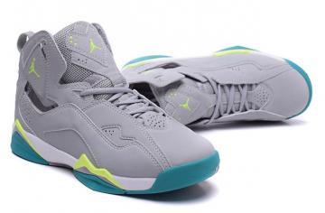 3b1300b39212 Nike Air Jordan True Flight Shoes Gray Volt Turbo Green 342774 043
