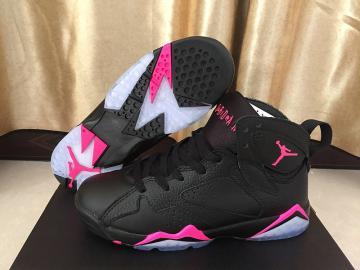5c4f77f6360e62 Nike Air Jordan Retro 7 VII GS Black Pink women shoes 442960-018