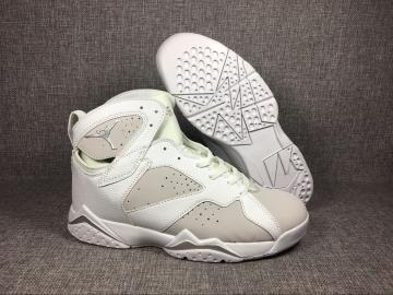 f9d820e3a33 Nike Air Jordan VII 7 Retro Men Basketball Shoes White Grey 304775-120