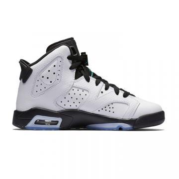 81c35d93855bda Nike Air Jordan 6 VI Retro Black White green Women shoes 384665-122