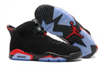01d2681831ea Nike Air Jordan VI 6 Retro Black Infrared 23 Black Red Men Shoes 384664-025