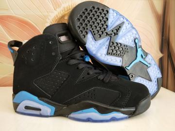 a121e080dfc Nike Air Jordan VI 6 Retro Unisex Basketball Shoes Black White Blue 543390