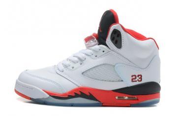 5a9101b613570c Nike Air Jordan V 5 Retro Fire Red Basketball Shoes White Black 440888 120